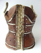 Rare Antique Original French Leather Medical Scoliosis Corset Corsage 18-19 th.