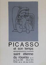 """""""PICASSO ET SON TEMPS (ST ETIENNE DU ROUVRAY 1973)"""" Affiche originale entoilée"""