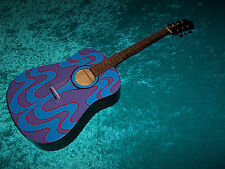 Psychedelic Lennon Epiphone acoustic guitar hand painted Gibson John 67
