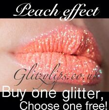 High Shine, Glitter Lips As Seen On T.V- Bright Red, Peach, Pink FREE GLITTER
