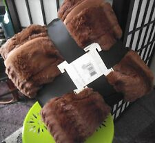 Mink Fur (faux) Blanket - Bedspread KING  Mink coat feel. Brown.REDUCED PRICE!