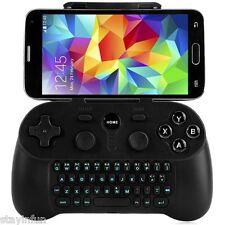 Sans fil bluetooth 3.0 manette avec clavier pour téléphone intelligent smart tv cadeau noir