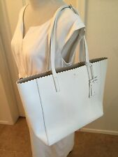 Kate Spade New York Hallie                    Scalloped Leather Tote Bag, White