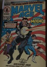 MARVEL AGE #77 Aug 1989 Special Macho Issue Shield Comic Book Fast Shipping!!!!!
