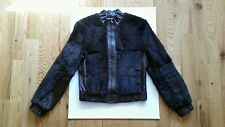 Absolu rabbit fur and leather bomber jacket