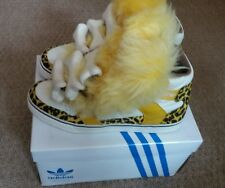 Adidas Originals X Jeremy Scott JS Mens yellow white cheatah Bones Fur UK9