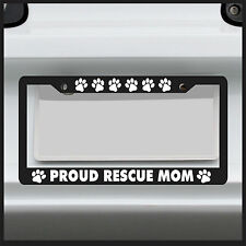 Paw Print Rescue Mom - License Plate Frame - Frame for car / truck / funny tag