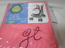 New Gagou Tagou  Baby Cuddle Bag Salmon Pink/Ivory 0-12 Months NIB