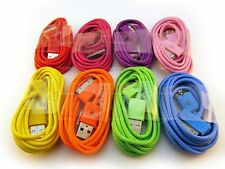 LONG 2m USB 30-PIN SYNC CHARGER CABLE iPHONE iPOD 3GS 4 4S RED PURPLE PINK BLUE