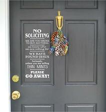 No soliciting Jesus Thin Mints Vinyl Decor Wall Lettering Words Quotes Decal art