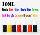 10ml refill ink 10 color choice for pre ink self inking flash rubber stamp