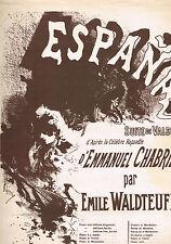 ESPAÑA suite de Valses d'après Emmanuel CHABRIER par Émile WALDTEUFEL Éd. Enouch