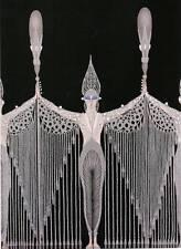 """Original Vintage ERTE ART DECO PRINT """"LES BIJOUX DE PERLE"""" Fashion Book Plate"""