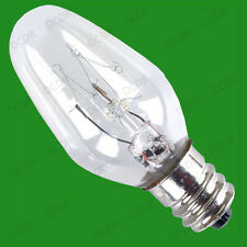 2x 7W LIGHT BULBS CES 12mm Screw - FOR PLUG IN (13amp) DUSK TILL DAWN NIGHTLIGHT