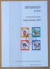 FDC Ersttagsblatt - Germania Bundespost 1976 - Sports