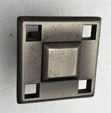 Pewter Antique Hardware MCM Drawer Pull Vintage Cabinet Knob Art &Craft Art Deco