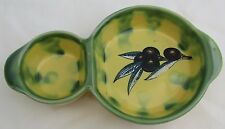 NICE  POTTERY DIPPING OLIVE OIL TAPAS DISH BOWL ITALY