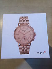 NEW FOSSIL Q GLAZER HYBRID ROSE GOLD WATCH SMARTWATCH FTW1106 -  - RRP £249
