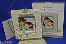 Hallmark Photo Holder Ornament Our Wedding 2014 Picture Frame Personalize NIB