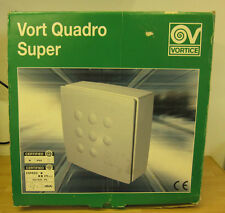 Vortice Vort Quadro Super Extractor Fan, Surface Mount, High Velocity Extraction