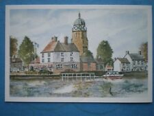 POSTCARD WORCESTERSHIRE UPTON ON SEVERN WATERCOLOUR