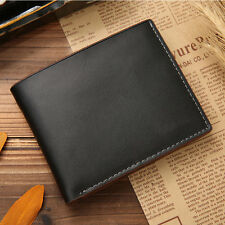 Black Mens Genuine Leather Bifold Wallet Credit/ID Card Coin Holder Purse Slim