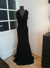 Designer JOHN GALLIANO Evening Cocktail Silk Black Bow Dress Size 42 UK10