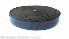 5 mtr Elasticated BACK webbing 100% stretch sofas chairs upholstery supplies