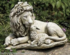 "12.5"" LION AND LAMB Jesus GARDEN FIGURINE Garden Statue Joseph's Studio 63063"