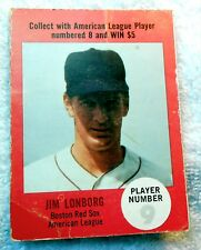 1968 Atlantic Oil Play Ball Game Card Jim Lonborg Red Sox Phillies Brewers VG NR