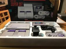 Super Nintendo SNES Set Console System Box Super Mario World Complete in Box CIB