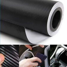 127x30cm 3D Black Carbon Fiber Vinyl Car Wrap Sheet Roll Film Sticker Decal DIY