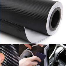"Useful 3D Carbon Fiber Vinyl Car Wrap Sheet Roll Film Sticker Decal 12""x50"" Hot"