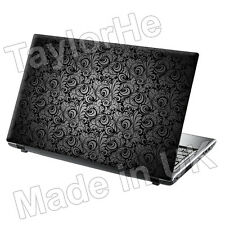 "17"" Laptop Skin Sticker Decal Vintage Grey Paisley 217"