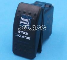 WINCH ISOLATOR Rocker Switch Carling ARB Narva Style Blue LED Heaps of Designs