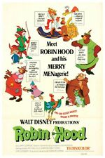 WALT DISNEY'S ROBIN HOOD MOVIE POSTER -  12 x 18