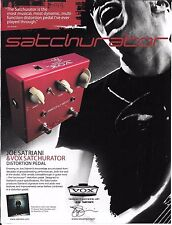 VOX - Distortion Pedal - Satchurator - Joe Satriani -   2008 Print Advertisement
