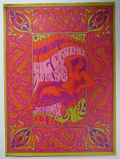 Original Moby Grape/Big Brother With Janis Joplin The Ark 1967 Poster