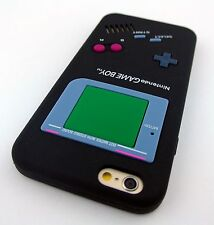 BLACK FUN GAME BOY GAMEBOY SILICONE RUBBER SKIN CASE COVER APPLE IPHONE 6 6S 4.7