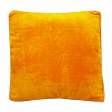 Ethnic Yellow Velvet Cushion Cover 45 Cm Soft Pillow Case Home Decor Indian 18""