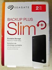 SEAGATE 2TB Backup Plus Slim Portable External USB 3.0 Hard Drive COLOR - BLACK