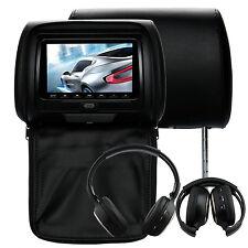 7 Inch Headrest Car DVD Player Support Games, SD Card+IR Headset (1 Pair)