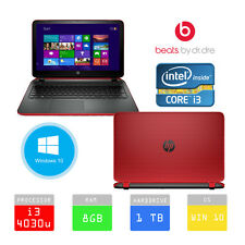 HP Pavilion 15-p077sa Beats 15.6 LAPTOP INTEL i3 1TB 8GB RAM RED *BLACK FRIDAY*
