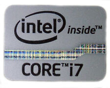 INTEL CORE i7  GREY STICKER LOGO AUFKLEBER 21x16mm (133)