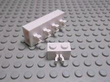 Lego 5 Steine 1x2 vertikal Clip weiß  30237 Set 771 5933 7288 7035