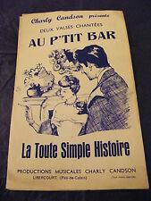 Partition Au p'tit bar La toute simple Histoire  Music Sheet