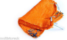 500 Orange Net Sacks 40cm x 60cm / 15Kg Mesh Bags Kindling Logs Potatoes Onions