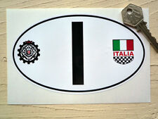 I for ITALY ITALIA RACI &  Italia Crest Car Sticker