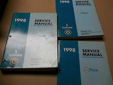 1998 Chevrolet Prizm Factory Service Manual Set