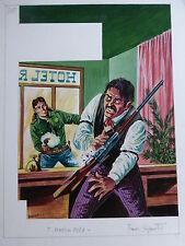 Originalzeichnung Capitan Miki Titelbild 245 von 1967 Franco Bignotti signiert